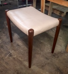 Re-Upholstered Stool